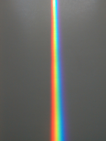 The Spectra sundial's signature rainbow prism beam
