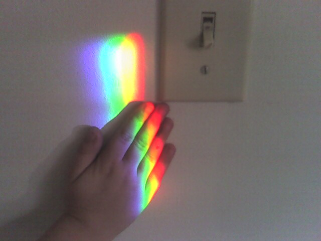Little hands love to touch rainbow colors